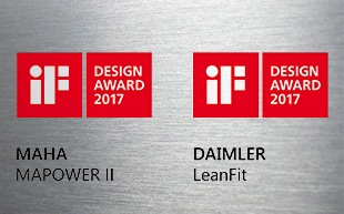 2 x iF Design Award 2017 for defortec